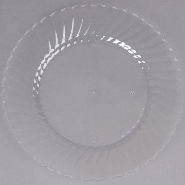 WNA Comet CW10144 Classicware 10 1/4 inch Clear Plastic Plate - 18/Pack