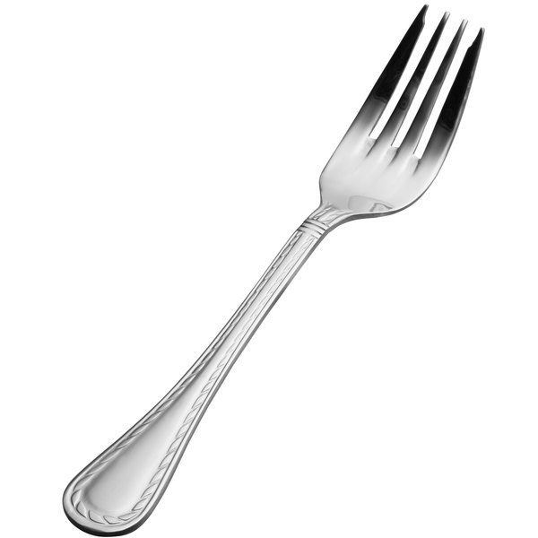 "Bon Chef SBS407 Amore 7 1/16"" 18/0 Extra Heavy Weight Bonsteel Salad/Dessert Fork - 12/Case"