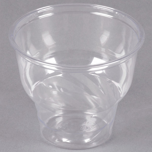 12 oz. Clear PET Sundae Cup - 1000/Case