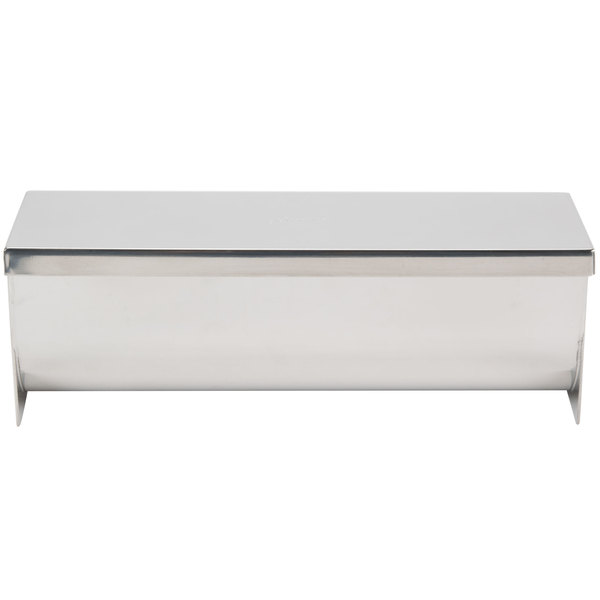 """Ateco 4916 9"""" Stainless Steel Rectangular Mold and Cover with Round Bottom (August Thomsen)"""