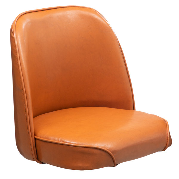 """Lancaster Table & Seating Deluxe 19"""" Wide Brown Barstool Bucket Seat"""
