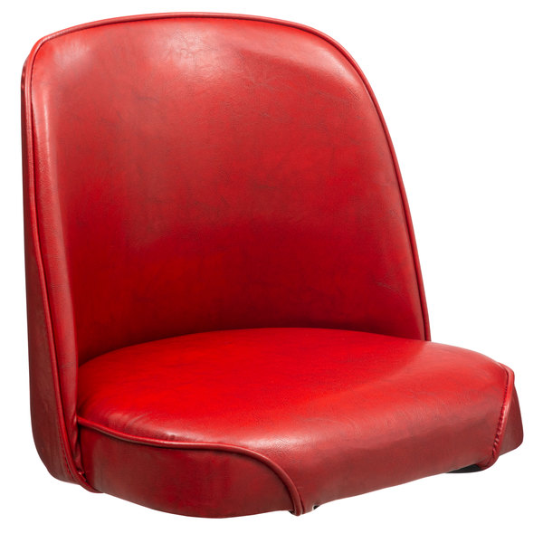 """Lancaster Table & Seating Deluxe 19"""" Wide Crimson Barstool Bucket Seat"""