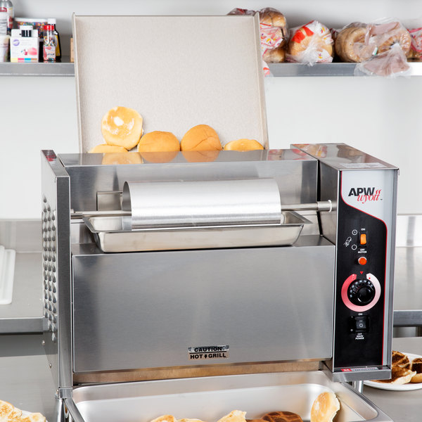 """APW Wyott M-95-3 Vertical Conveyor Bun Grill Toaster with 3"""" Opening - 208V"""