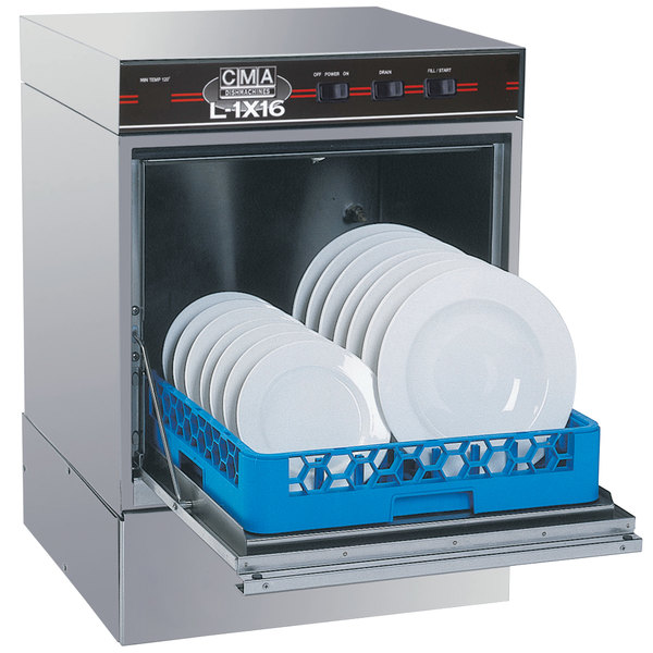 CMA Dishmachines L-1X16 Undercounter Dishwasher Low Temperature 16 inch Door Opening - No Heater