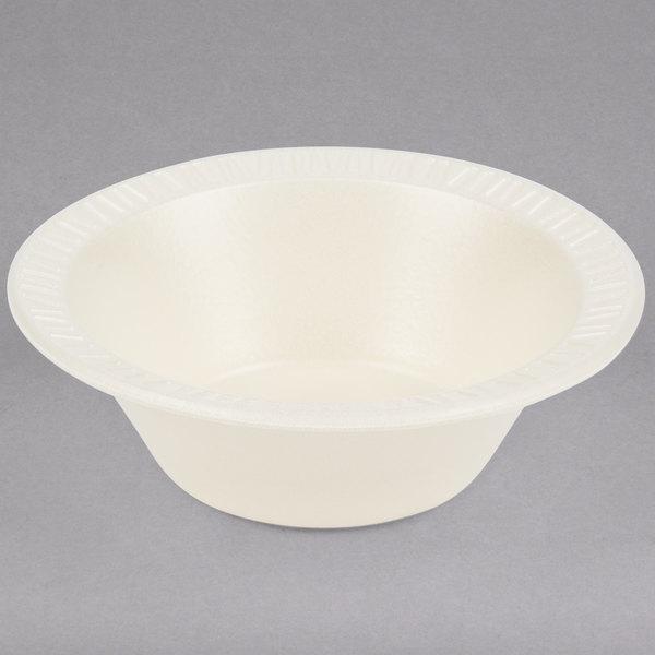 Dart 5BWHQ Quiet Classic 5-6 oz. Honey Laminated Round Foam Bowl - 1000/Case