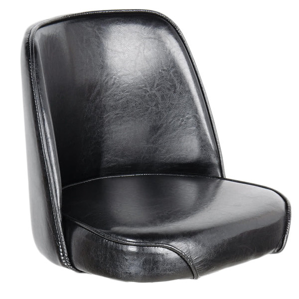 """Lancaster Table & Seating Deluxe 19"""" Wide Black Barstool Bucket Seat"""