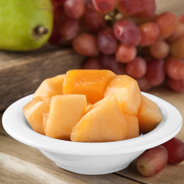 Carlisle 4304202 Durus 4 1/2 oz. White Rimmed Melamine Fruit / Monkey Dish - 48/Case