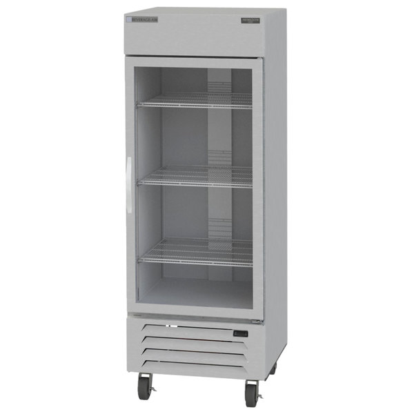 "Beverage-Air HBF27-1-G Horizon Series 30"" Glass Door Reach-In Freezer with LED Lighting Main Image 1"