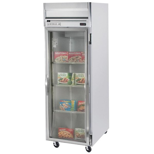 """Beverage-Air HBF27-1-G-LED Horizon Series 30"""" Glass Door Reach-In Freezer with LED Lighting"""