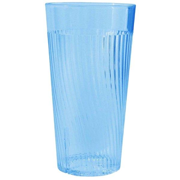 Belize 12 oz. Blue Polycarbonate Plastic Tumbler - 12/Pack