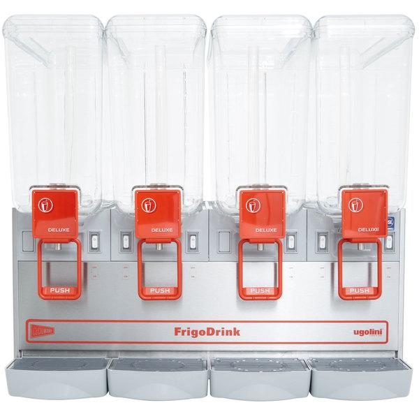 Cecilware Arctic Deluxe 20/4PD Quadruple 5.4 Gallon Bowl Premix Cold Beverage Dispenser