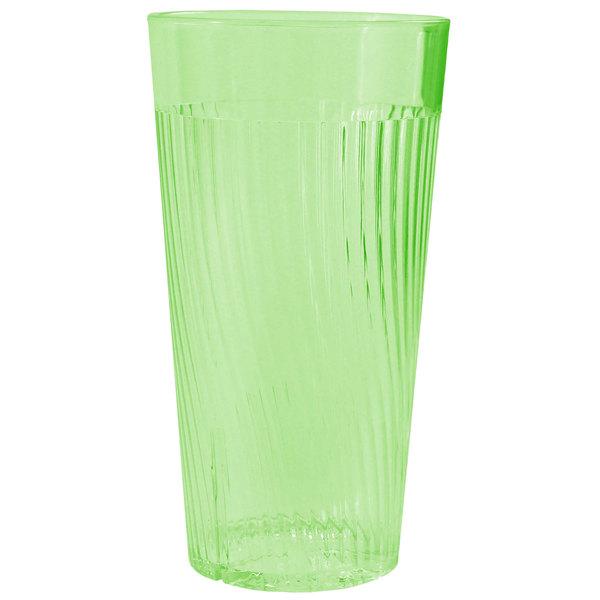Belize 20 oz. Green Polycarbonate Plastic Tumbler - 12/Pack