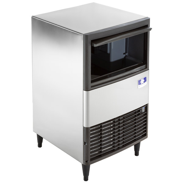 """Manitowoc QM-45A 19 3/4"""" Air Cooled Undercounter Full Size Cube Ice Machine with 30 lb. Bin - 95 lb."""