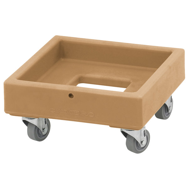 Cambro CD1313157 250 lb. Coffee Beige Camdolly Milk Crate Dolly