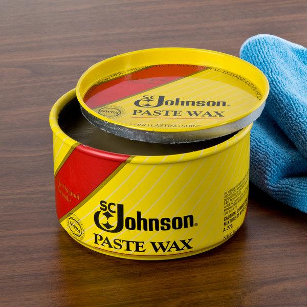 SC Johnson 203 1 lb. / 16 oz. Wood Paste Wax - 6/Case Main Image 8