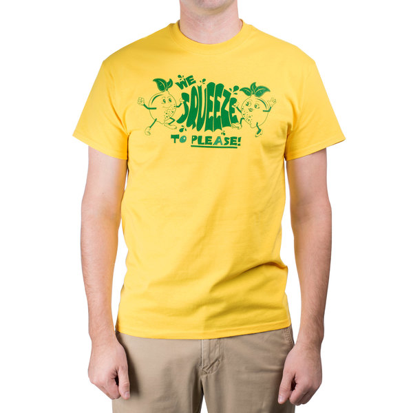 """""""We Squeeze To Please"""" Small Lemonade T-Shirt"""