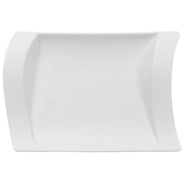 "Villeroy & Boch 10-2525-3570 NewWave 8 1/4"" x 5 7/8"" White Premium Porcelain Pickle Dish - 6/Case"