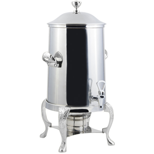 Bon Chef 47103-1C Renaissance 3.5 Gallon Stainless Steel Coffee Chafer Urn with Chrome Trim