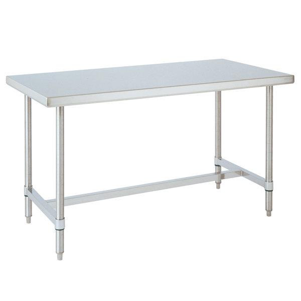 "14 Gauge Metro WT447HS 44"" x 72' HD Super Open Base Stainless Steel Work Table"