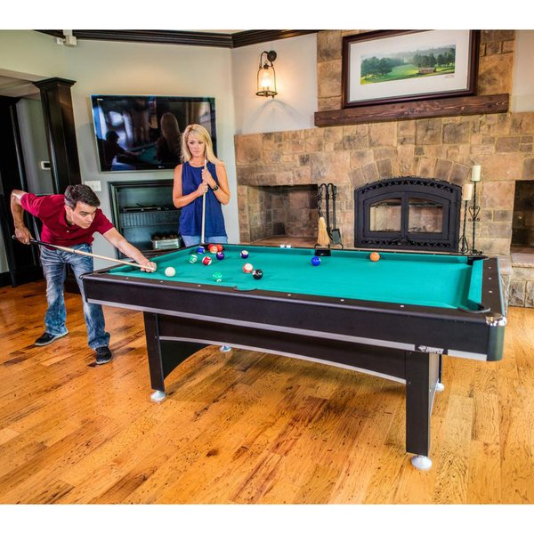 Triumph 45 6840 Phoenix 7 Billiard Pool Table With Table Tennis Conversion Top And Accessories
