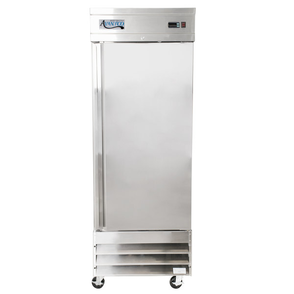 """Avantco CFD-1FF 29"""" One Section Solid Door Reach in Freezer Scratch and Dent"""