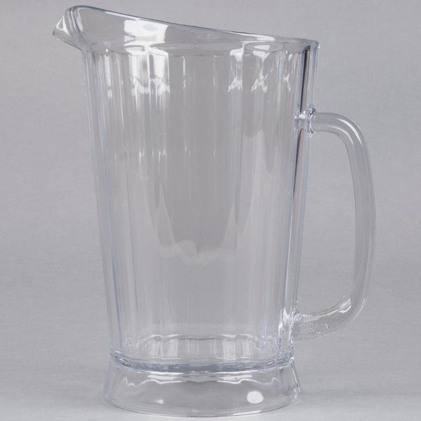 Rubbermaid 3334 60 oz plastic bouncer pitcher fg333400clr - Plastic sangria glasses ...