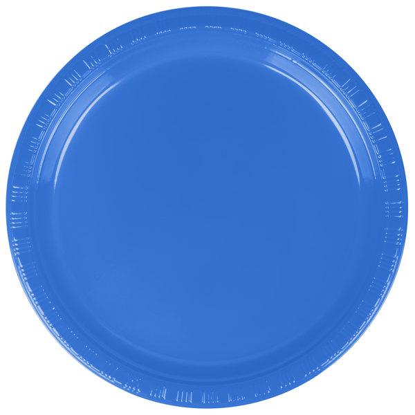 Dart Solo P65B-0099 6 inch Blue Plastic Plate - 1000/Case
