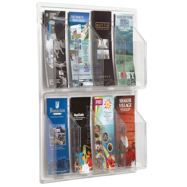 """Aarco LRC108 21"""" x 21"""" Clear-Vu 8-Pocket Pamphlet Display Main Image 1"""