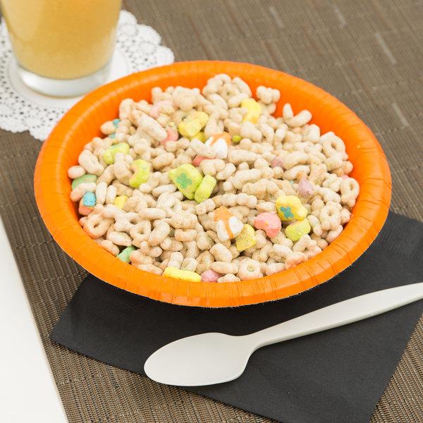 Creative Converting 173282 20 oz. Sunkissed Orange Paper Bowl - 200/Case Main Image 3
