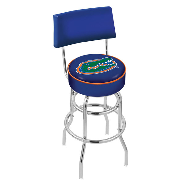 Holland Bar Stool L7C430FlorUn University of Florida Double Ring Swivel Stool with Padded Back and Seat Main Image 1