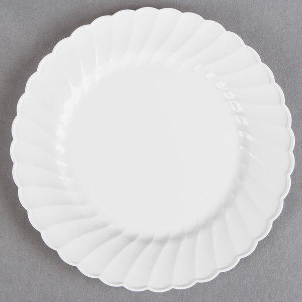 WNA Comet CW10144W Classicware 10 1/4 inch White Plastic Plate - 18/Pack