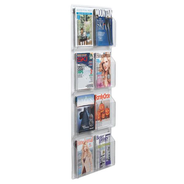 "Aarco LRC115 21"" x 49"" Clear-Vu 8-Pocket Magazine Display Main Image 1"