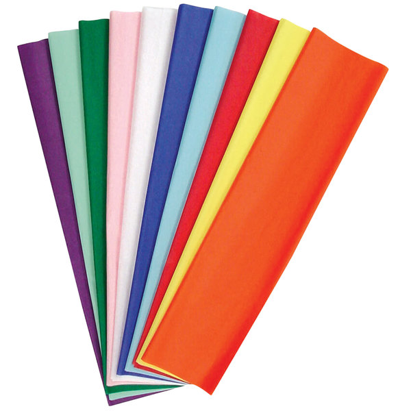 """Pacon 58970 Kolorfast 20"""" x 30"""" Assorted Color 10# Tissue Paper - 100/Pack"""