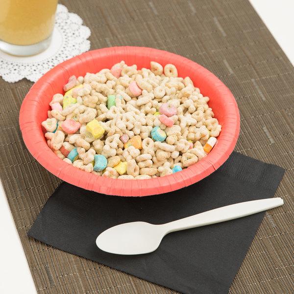 Creative Converting 173146 20 oz. Coral Orange Paper Bowl - 20/Pack