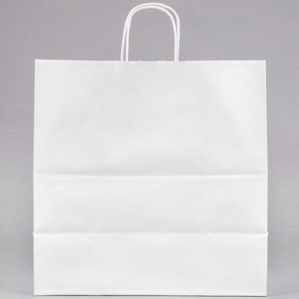 Duro Jr Mart White Paper Ping Bag With Handles 13 X 7 250 Bundle
