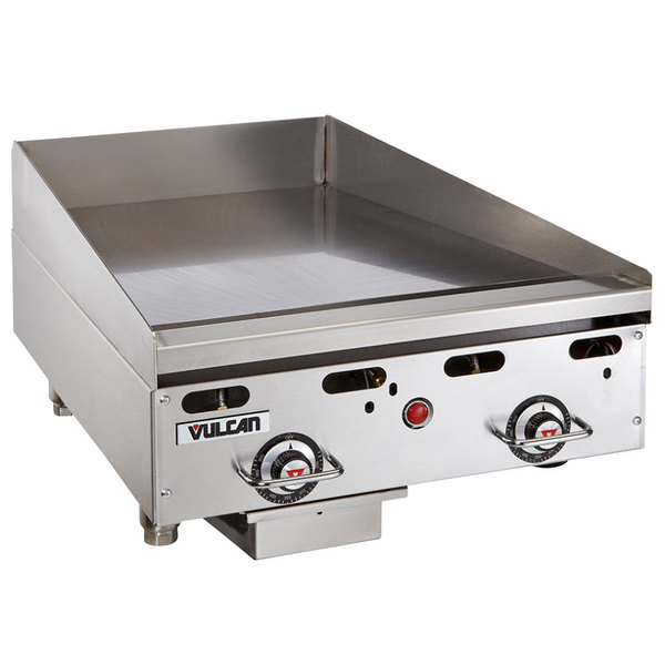 """Vulcan MSA24-C0100P 24"""" Countertop Natural Gas Griddle with Rapid Recovery Plate and Piezo Ignition - 54,000 BTU Main Image 1"""