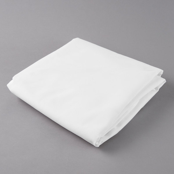 Beautiful Provide The Perfect Foundation For Your Tabletop Decor With This White  Hemmed Poly Cotton Tablecloth.