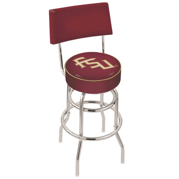 Holland Bar Stool L7C430FSU-FS Florida State University Double Ring Swivel Stool with Padded Back and Seat