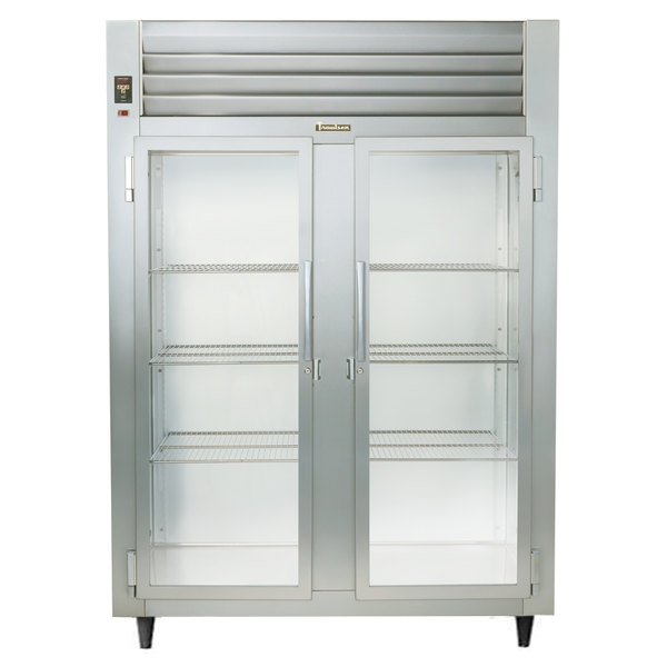 Traulsen AHT232DUT-FHG Two Section Glass Door Narrow Reach In Refrigerator - Specification Line