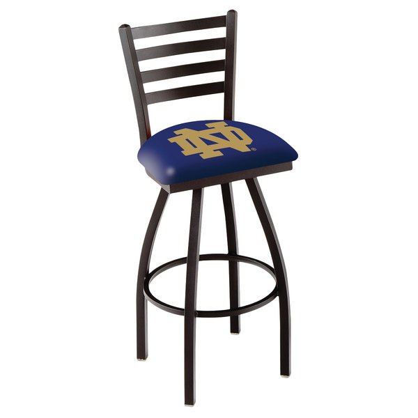 Holland Bar Stool L01430ND-ND University of Notre Dame Swivel Stool with Ladder Back and Padded Seat