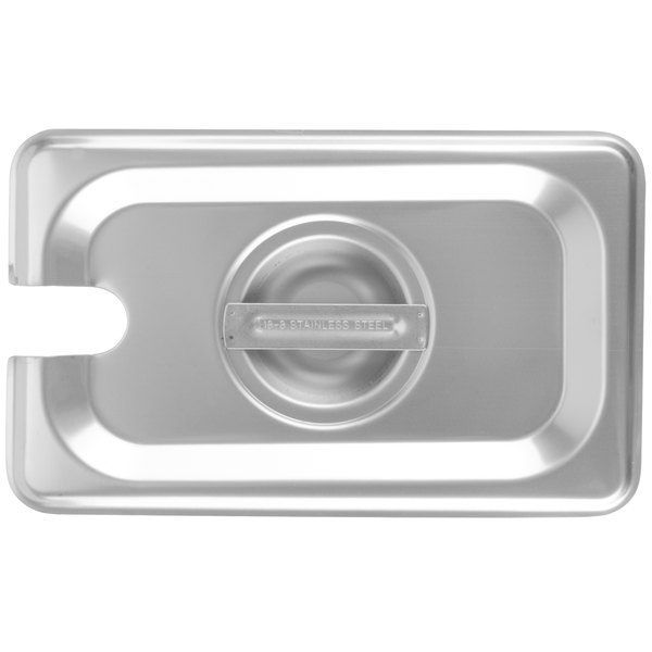 Choice 1/9 Size Stainless Steel Slotted Steam Table / Hotel Pan Cover