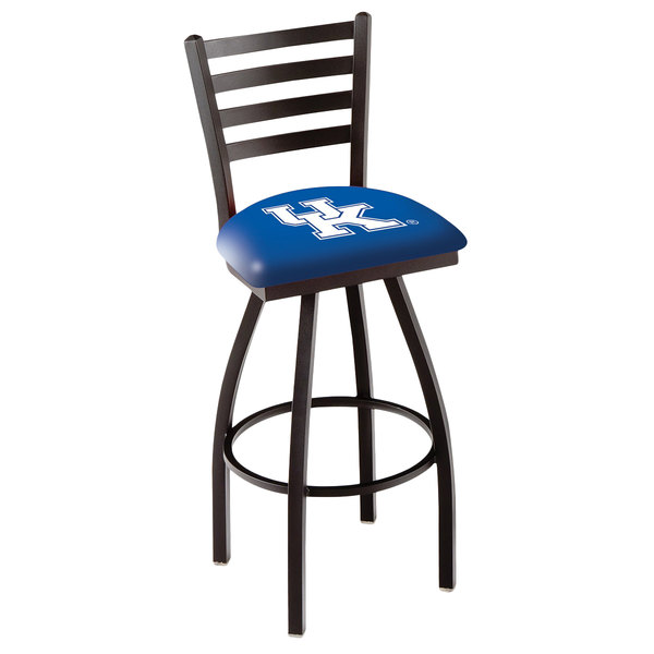 Holland Bar Stool L01430UKY-UK University of Kentucky Swivel Stool with Ladder Back and Padded Seat