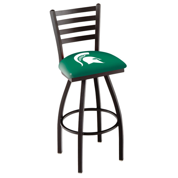 Holland Bar Stool L01430MichSt Michigan State University Swivel Stool with Ladder Back and Padded Seat