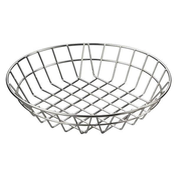 "American Metalcraft WISS12 Stainless Steel Round Wire Basket 12"""