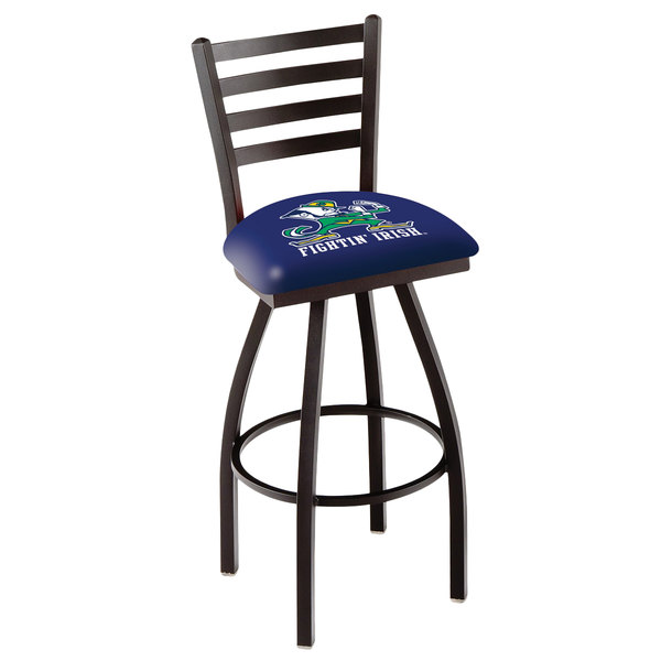 Holland Bar Stool L01430ND-Lep University of Notre Dame Swivel Stool with Ladder Back and Padded Seat