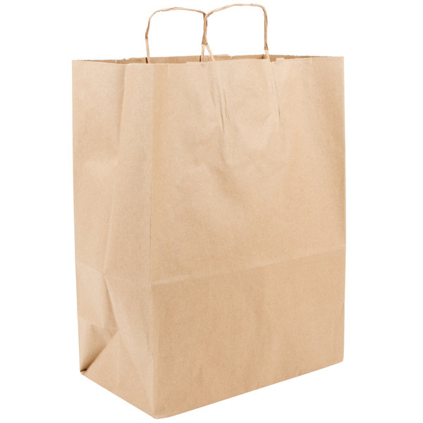 Duro Mart 13 Inch X 7 17 Brown Ping Bag With Handles