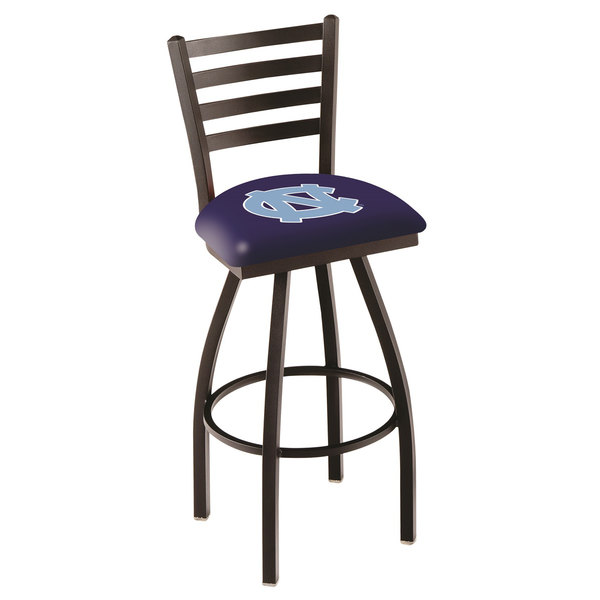 Holland Bar Stool L01430NorCar University of North Carolina Swivel Stool with Ladder Back and Padded Seat