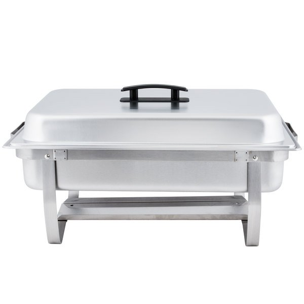 Choice Economy 8 Qt Full Size Stainless Steel Chafer With Folding Frame