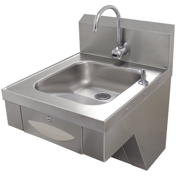 Advance Tabco 7-PS-41 Hands Free Hand Sink with Paper Towel Dispenser - ADA Compliant Main Image 1