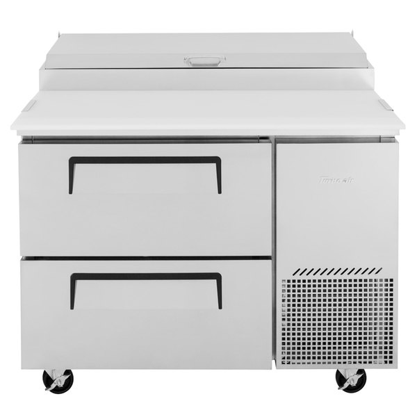 "Turbo Air TPR-44SD-D2-N 44"" 2 Drawer Pizza Prep Table Main Image 1"